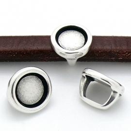 DQ metaal kraal REGALIZ voor cabochon 11,5mm - gat 8x10mm (B04-109-AS)