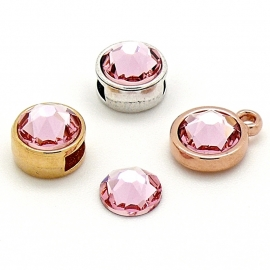 swarovski platte steen SS34 - light rose
