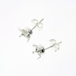 oorbel oorsteker met oogje SPL voor ss39 per paar (AB51430)