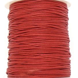 waxkoord 1mm  - 10 meter kleur rood (no. 162)