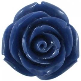 kraal roos 11 mm navy blauw (BK9065)