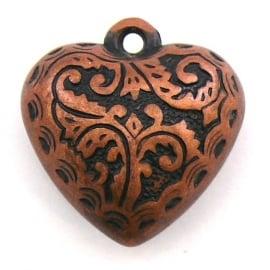 koper bedel bol hart metallook 16x17mm (BK1182)
