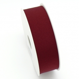elastisch IBIZA lint 30mm breed - lenge 1 meter - kleur Dark Red