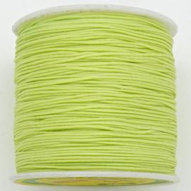 mousetailkoord 0,7mm (dun satijnkoord) - kleur peridot neon - 5 meter (BMT-20)