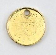 DQ metaal GOUD bedel munt 10 cent 14mm (B02-024-SG)