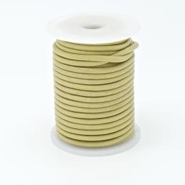 DQ rond leer 1,5mm - 1 meter - kleur LIGHT CITRINE  (BRL-01-02)