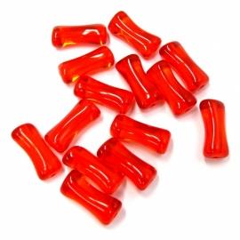 glaskraal botje 5x13mm oranje/rood (BJ402)