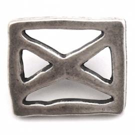 10-0118  concho met pin rechthoek open 20x23mm