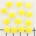 kraal roosje 7mm geel (BJ-21611-3)
