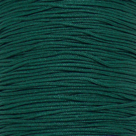 mousetailkoord 0,7mm (dun satijnkoord) - kleur donkergroen -  5 meter (BMT-15)
