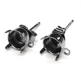 oorbel oorsteker met oogje NPL zilver voor ss39 per paar (AB51435)