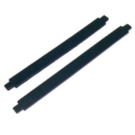 leren band 14mm breed kleur zwart - lengte 17cm (OL-09)