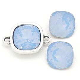 swarovski vierkante steen 4470 - 10mm - air blue opal (BSSQ-004)