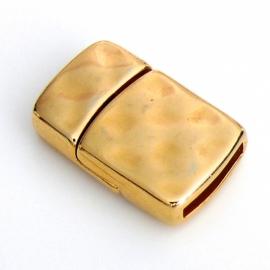 DQ metaal GOLD magneetsluiting hamerslag voor 13mm breed plat leer (B07-015-SG)