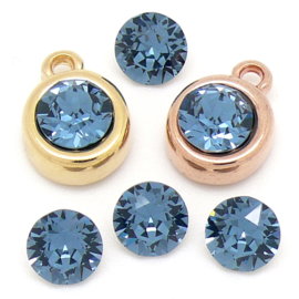 swarovski puntsteen SS39 8,5mm denim blue