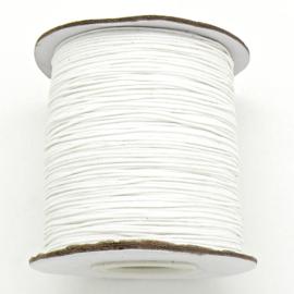 waxkoord 0,5 mm 10 meter kleur ivory/white