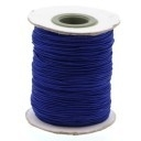 stoffen elastiek 1mm dik lengte 2 meter - kleur donkerblauw (AB84857)