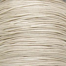 mousetailkoord 0,7mm (dun satijnkoord) - kleur ivoor creme nr.021 - 5 meter (BMT-07)