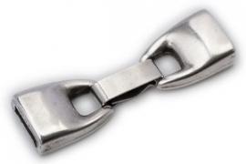 DQ metaal clipsluiting voor 10mm breed leer (gat2,5x10mm) (B07-007-AS)