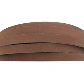 DQ leren band breed 10mm - 2,2 dik circa 100cm lang - kleur trend licht bruin (PL10-007)