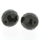 glaskraal rond facet geslepen zwart 12mm (BK4420)