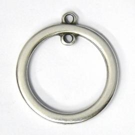 DQ metaal bedel ring met binnenoog maat 33mm (B05-017-AS)