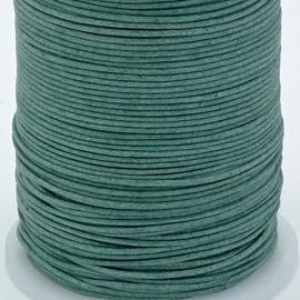 waxkoord 1mm 10 meter kleur flessegroen