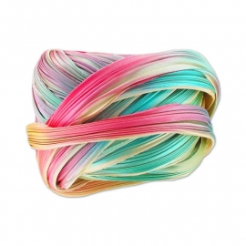 Shibori Silk Ribbon - color Ecru Borealis - lengte 20cm (FCR-429)