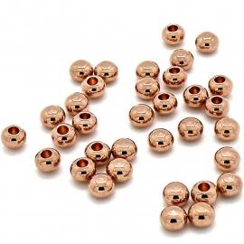 DQ metaal ROSE GOUD eindkraal 3x5mm (gat 2mm) (B06-009-RG)