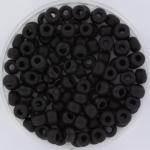 MR6-0401f Miyuki Rocailles 6/0 - 10 gram - kleur Matte Black