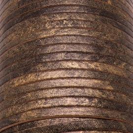 soepele lederen band smal 5mm - dik 2mm - kleur metalic vintage oud goud - 20cm (PL05-029)