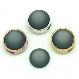 polariscabochon 11,8 mm - kleur Dark Grey (CAB-12-017)
