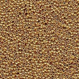 MR15-4202 Miyuki Rocailles 15/0 - 5 gram - kleur Galvanised Gold