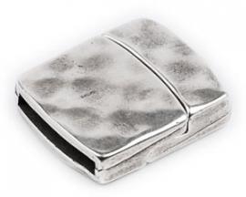 DQ metaal magneetsluiting hamerslag voor 20mm plat leer gat 2.5x20mm (B07-016-AS)