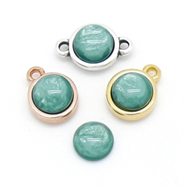 polariscabochon pearl rond 7,2/8mm - kleur jade pearl (CAB-07-013)