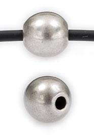 DQ metaal kraal rond 8mm - gat 2mm (B01-005-AS)
