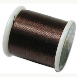 KO draad kleur dark brown - rol 50m (no. 10BR)