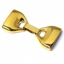 DQ metaal GOLD clipsluiting maat XL gat 20x2,5 mm (B07-009-SG)