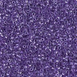 DB0906 Miyuki Delica 11/0 - 5 gram - kleur Sparkling Purple Lined Crystal