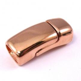 DQ metaal ROSE GOUD magneetsluiting 13x32mm gat 7x10mm REGALIZ (B07-038-RG)