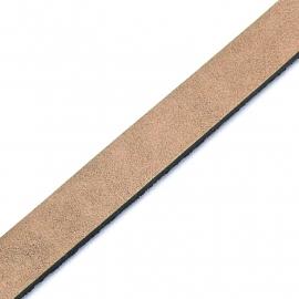 Basic leren band breed 10mm - 2,5 dik circa 100cm lang - kleur smoked beige (PL10-019)