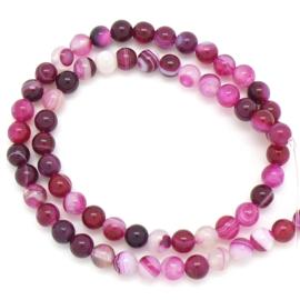 edelsteen kraal 6mm - Pink Agate - 10 stuks (BJ6-007)
