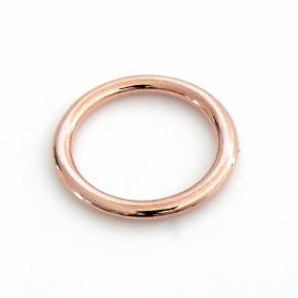 DQ metaal ROSE GOUD gesloten ring binnenmaat 15mm - buitenmaat 19mm (B05-021-RG)