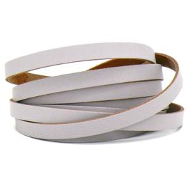 DQ leren band smal 10mm - 2,1 dik circa 100cm lang - kleur trend Paris Grey (PL10-030)