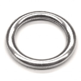 DQ metaal gesloten ring 19mm - binnenmaat 15mm (B05-021-AS)