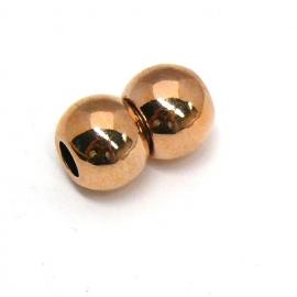 DQ metaal ROSEGOLD magneetsluiting balletjes voor 4mm rond leer (B07-019-RG)