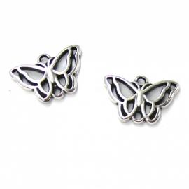 DQ metaal tussenzetsel vlinder 12x18mm (B03-020-AS)