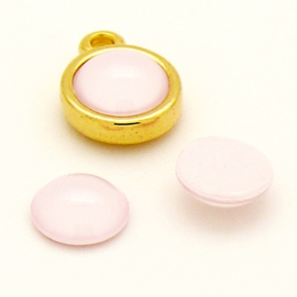 swarovski platte steen bol - 2080 - hotfix - kleur Powder Rose