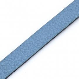 Basic leren band breed 10mm - 2,5 dik circa 100cm lang - kleur Sky Blue (PL10-021)