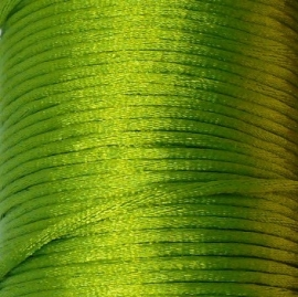 satijnkoord 2mm 5 meter kleur lime